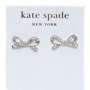 KATE SPADE diamond bow earrings